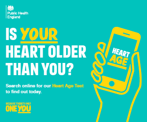 Is your heart older than you? Search online for our Heart Age Test to find out today